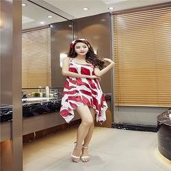 Đầm oversize vạt xéo cách điệu