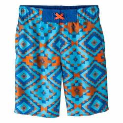 Quần bơi Cherokee Boys Geometric Print Swim Trunk - Size 10-12, 14-16