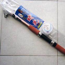 Cần câu máy Guangwei 3.6m tặng kèm 500m cước Daiwa Nhật bản