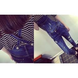 Quần yếm jean dài YD14