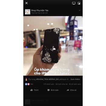 Ốp lưng sơn mài 3D đính đá jetblack cho iphone