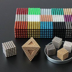 Bi nam châm xếp hình thông minh nhiều màu 5mm 216 viên