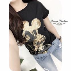 Áo thun hình Mickey nhủ vàng