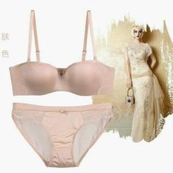 Bộ Pink Phối Ren Nâng Ngực Tạo Khe Cao cấp