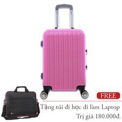 Vali nhựa khung nhôm xách tay 7Kg màu hồng size 20 TL032