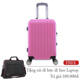 MUA 1 TẶNG 1 Vali nhựa khung nhôm đựng 20Kg màu hồng TL032 - TL032-M thumbnail