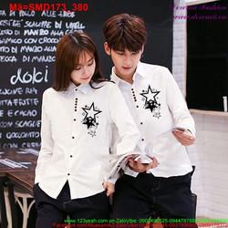 Sơ mi cặp tình nhân hình ngôi sao sành điệu SMD173