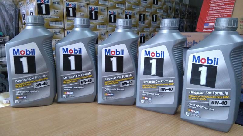 Dầu nhớt MOBIL1 0W40 nhập khẩu từ Mỹ 2