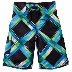 Quần bơi Hang Ten Plaid Cargo Swim Trunks - Size 10-12