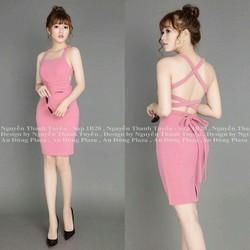Đầm hở lưng hồng dâu quyến rũ