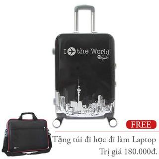 Vali nhựa hình Khung Nhôm I Fly The World đen 7Kg TL033 - TL033-S thumbnail