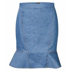 Chân váy ôm phối đuôi cá thời trang - Xanh
