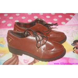 Giày da nữ Oxford năng động trẻ trung GUBB7