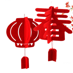 Lồng đèn Xuân trang trí Tết - LỚN - bằng mút xốp