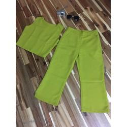 Set nguyên bộ quần lửng áo tay con sành điệu HCS17