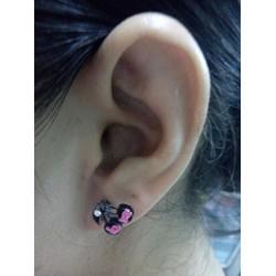 Bông tai nữ Lo Ve màu hồng