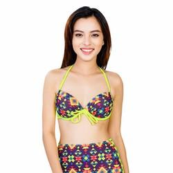 Bộ Đồ Bơi Nữ Mimosa Dạ Quang Cột Nơ