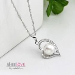 Dây chuyền trái tim tình yêu ngọc trai lấp lánh SPN-DZ108