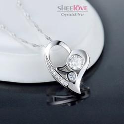 Dây chuyền trái tim tình yêu lấp lánh SPN-DZ087