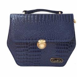 Túi xách nữ hình lục giác màu xanh với chất liệu da cao cấp - GK0018