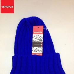 Mũ len beanie sọc xanh coban 01