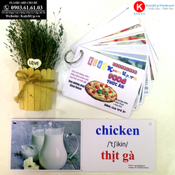 Flashcard tiếng Anh cho bé KatchUp - Chủ đề Thức ăn