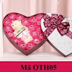 Hoa Hồng hộp trái tim QTH05