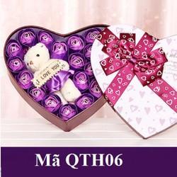 Hoa Hồng hộp trái tim QTH06