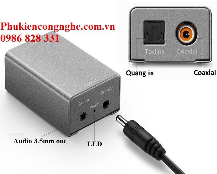 Bộ chuyển đổi Quang sang Audio chính hãng Cao cấp 1