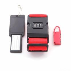 Bộ dây đai vali có khóa số, ổ khóa số và thẻ hành lý. C102
