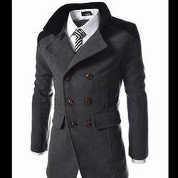 áo khoác măng tô hàn quốc Mã: NK0794 - XÁM ĐẬM