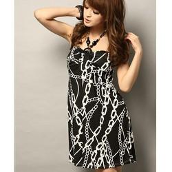Đầm suông họa tiết dây xích cực xinh-D471