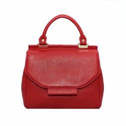 Túi xách nữ da bò thật cao cấp ELMI màu đỏ ETM602