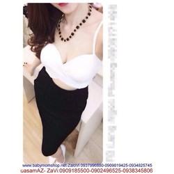 Sét áo croptop 2 dây cúp ngực và chân váy ôm sành điệu SEV80
