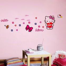 Decal dán tường hello kity