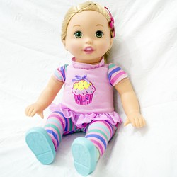 Búp bê Little Mommy tóc vàng - Fisher Price 36cm