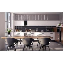 Tủ bếp Acrylic hiện đại cho phòng bếp lớn