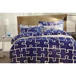 Drap và ga trải giường giá rẻ đẹp độc đáo bởi họa tiết xếp hình TL77