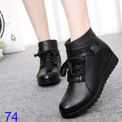 B074 - Giày Boot Nữ Độn Gót Cá Tính