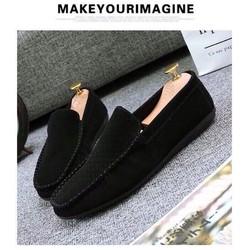 giày mọi nam da lộn
