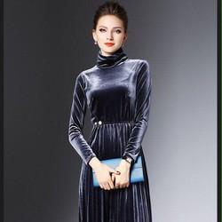 Hot Trend - Đầm nhung cổ cao dáng đẹp
