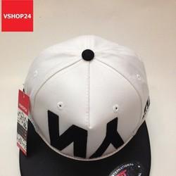 Mũ snapback NY trắng vành đen 102