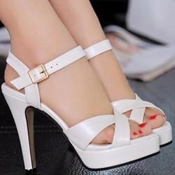 Giày cao gót đan chéo - LN1049