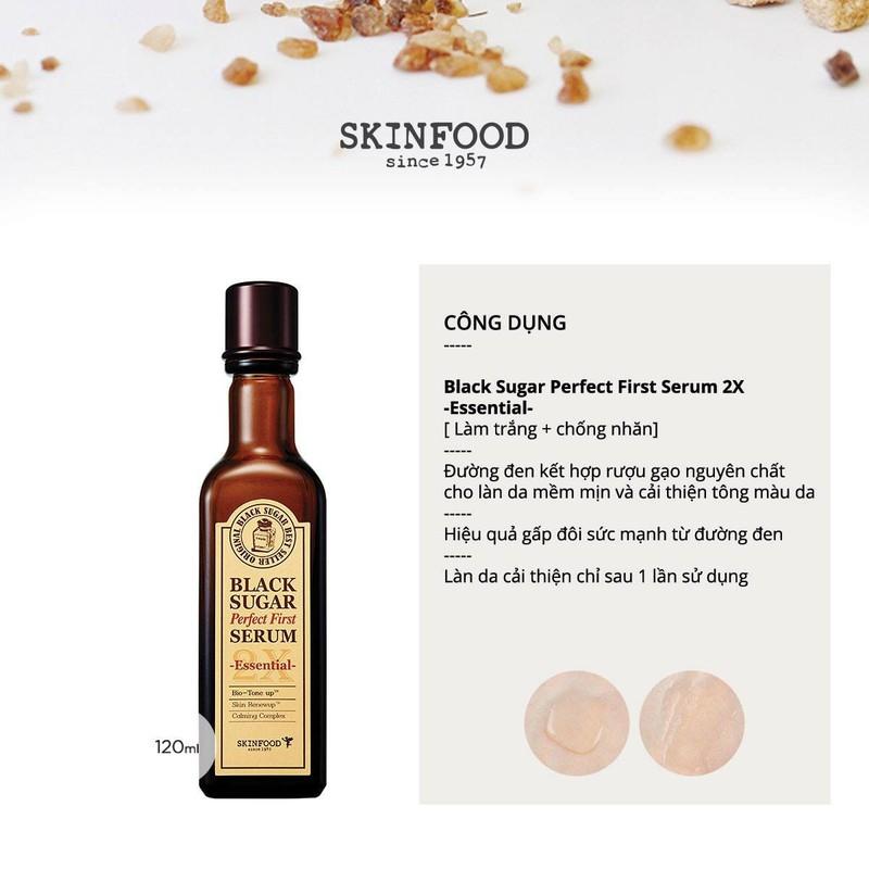 Tinh chất dưỡng đường đen Skinfood Black Sugar Perfect First Serum 1