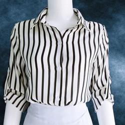 Áo somi sọc, tay dài có dây cài. T 051