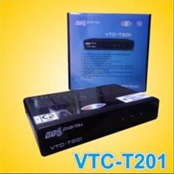 Combo đầu thu kỹ thuật số DVB T2 VTC T201 và ăn ten kèm 12m dây