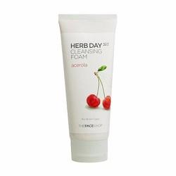 Sữa rửa mặt anh đào Herb Day 365 Cleansing Foam #Acerola