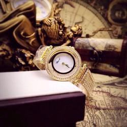 Đồng hồ CP nữ dây nhuyễn F1 mặt xà cừ
