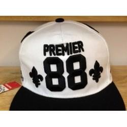 Nón snapback Kpop Premier trắng vành đen 051