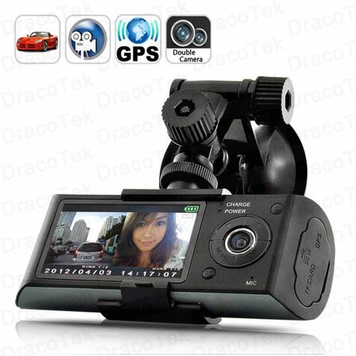 CAMERA HÀNH TRÌNH X3000 2 CAMERA +GPS, HD CAR DVR X3000